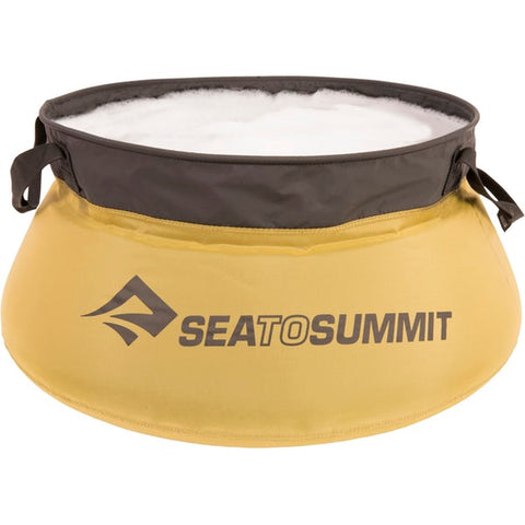 Sea to Summit - Kitchen Sink. Why take a big bulky plastic container to do this wash. These 5L and 10L foldable sinks are a great addition to your outdoor adventures or to add to your emergency kit. The 5L sink also makes a great dog dish as well!