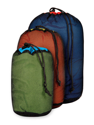 Sea to Summit - Mesh Stuff Sacks. These mesh sacks are great to keep yourself organized while out enjoying the great outdoors, from storing clothing to using as a ditty bag. They would also make a great addition to your emergency kit too.
