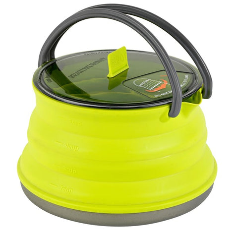Sea to Summit - XPot Kettle, 1.3L. This kettle is a great addition to any outdoor equipment or emergency kit. Compact and lightweight!