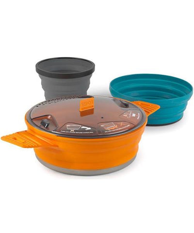 Sea to Summit - XSet 21, 3 Piece Cook Set. Great addition to take along on your outdoor adventures or add to your emergency / survival kit.