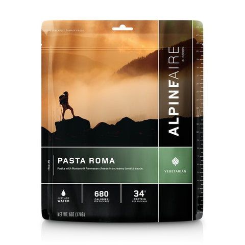 Alpineaire - Pasta Roma. Fuel up with this great meal on any outdoor adventure. This meal would also make a great addition to your emergency / survival kit