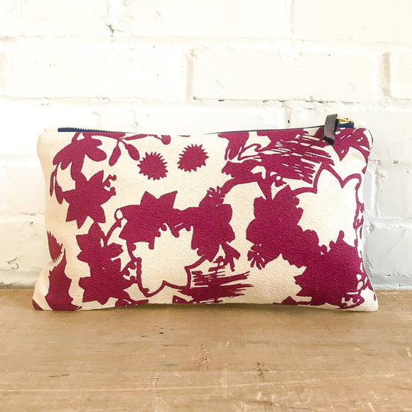 Wine Deep Woods Clutch Zipper Bag