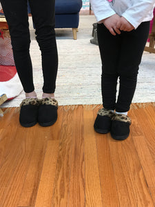 Snooze Leopard Slippers in Mommy & Me Sizes