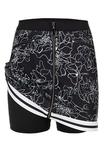 Zip Front Golf Skirt