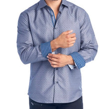Load image into Gallery viewer, Mens Grey Diamonds Dress Shirt