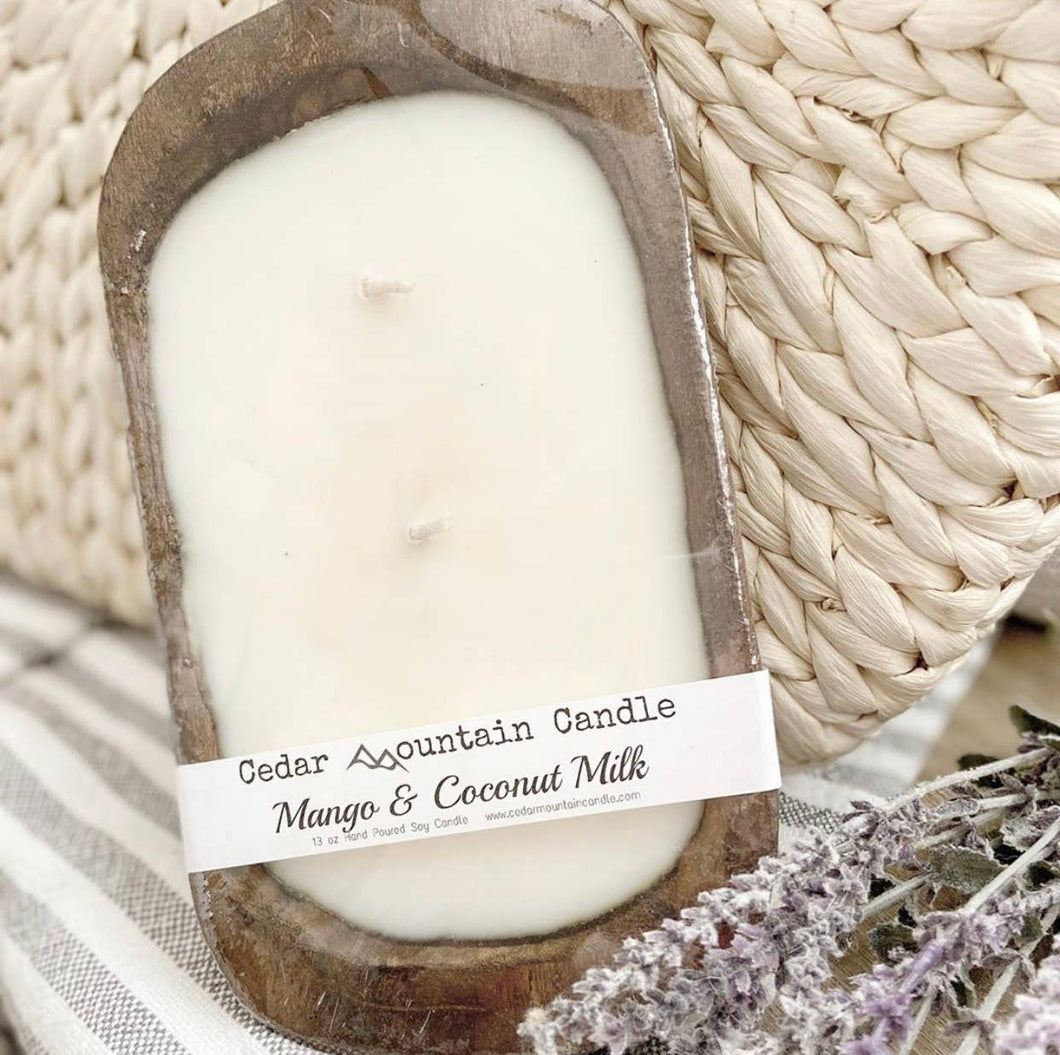 Cedar Mountain Candle - 3 Wick Rustic Dough Bowl Candle - Summer Collection