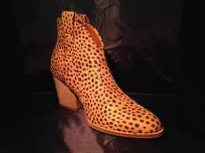 Cheetah Leather Booties