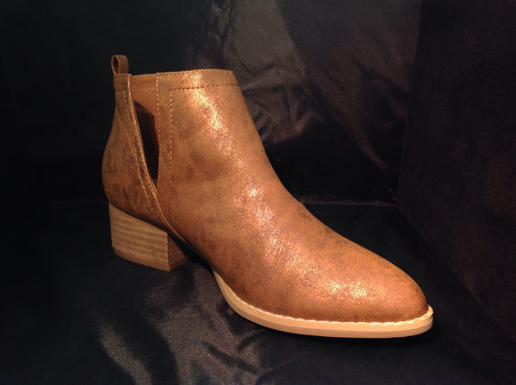 Whiskey Leather Booties