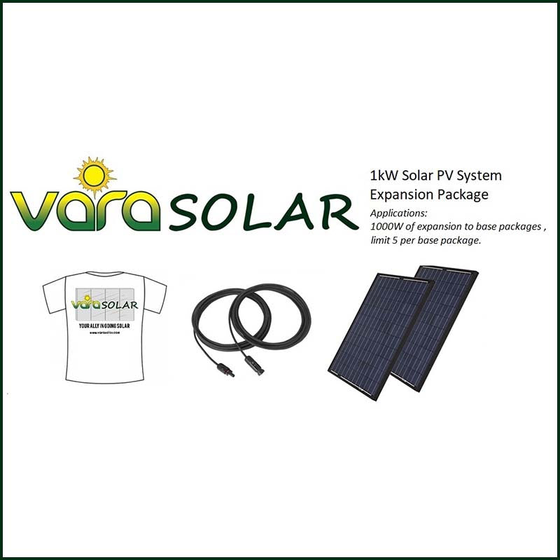 VARA SOLAR 1KW SOLAR PV EXPANSION PACKAGE