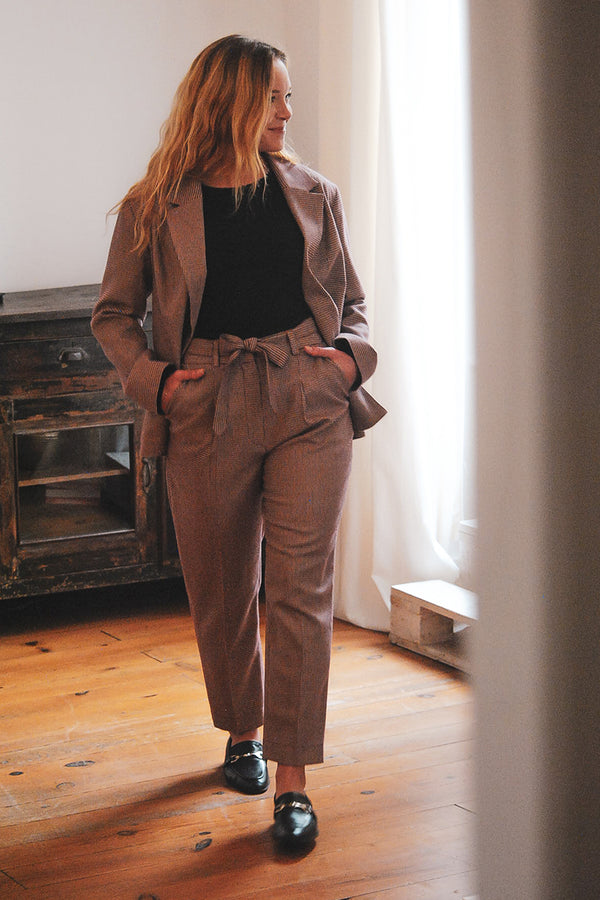 Pantalon à pinces Fit me like you do - Pied de puces