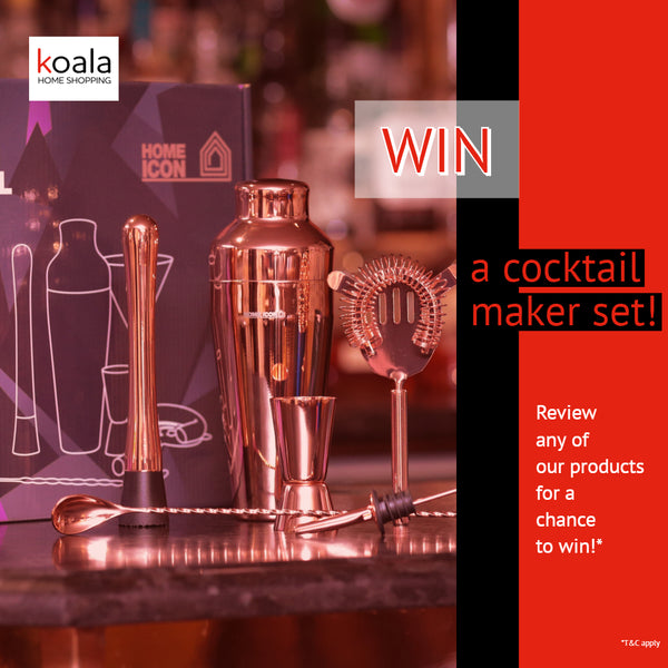 Review us on Trustpilot for a chance to win one of 10 Home Icon Cocktail Sets