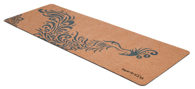 Natural cork with bio-rubber backing Blue Phoenix design