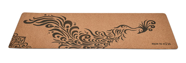 Natural cork with bio-rubber backing Black Phoenix design