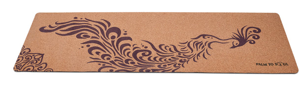 Natural cork with bio-rubber backing Purple Phoenix design
