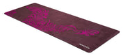 Vegan Suede with Bio-rubber backing yoga mat phoenix design purple