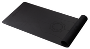 Hi Grip Bio-rubber alignment yoga mat Black