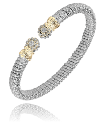 4mm Diamond Cluster Open Bracelet
