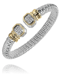 8mm Octagon Diamond Open Bracelet