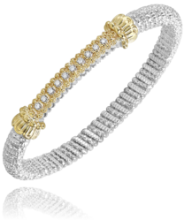 4mm Diamond Bar YG Bracelet