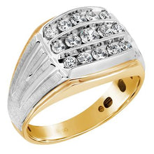 Load image into Gallery viewer, Gents Two Tone Contemporary Fashion Ring