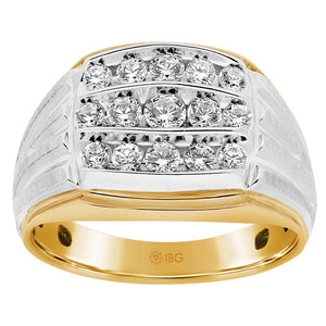 Gents Two Tone Contemporary Fashion Ring