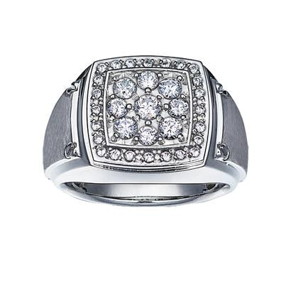 Gents Cluster Diamond Ring
