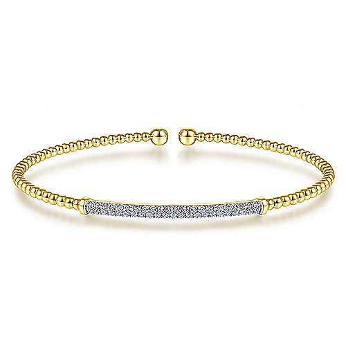 Diamond Bar Bangle YG