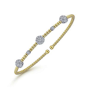 Cluster Diamond Stationed Bangle