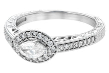 Load image into Gallery viewer, 14k Horizontal Marquise Ring