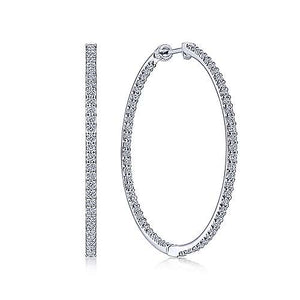 In and Out Diamond Hoops