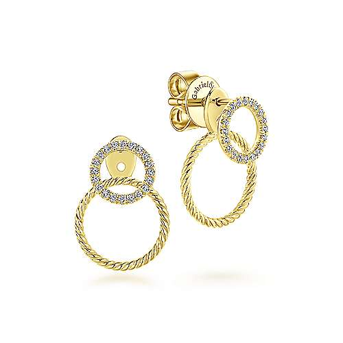Peek A Boo Diamond Earrings