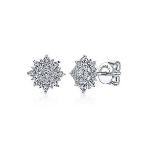 Diamond Sunburst Earrings