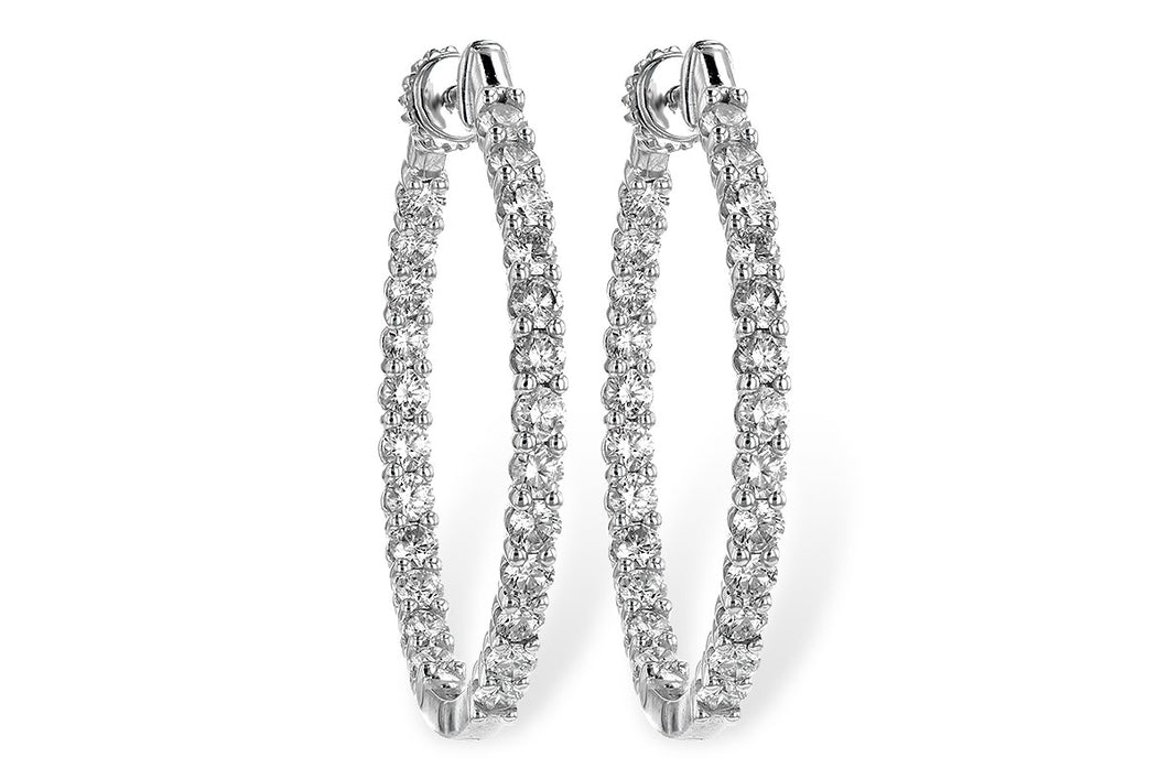 3 ct Diamond In&Out Hoops