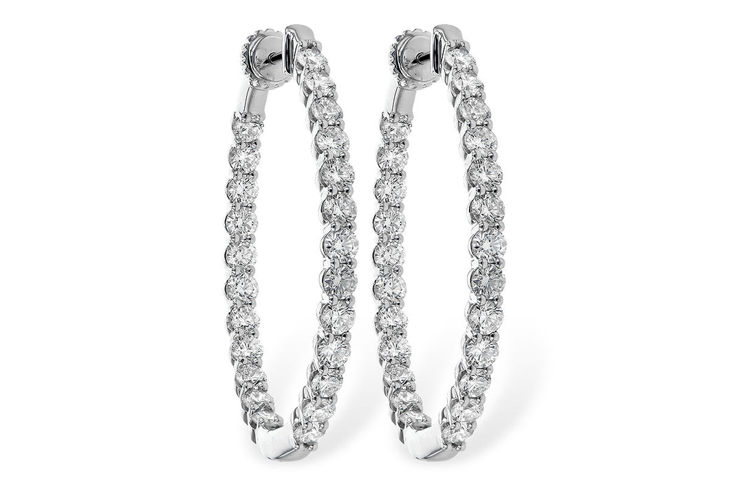 4 ct Diamond In&Out Hoops