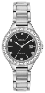 Citizen Ladies Silhouette Crystal -Black