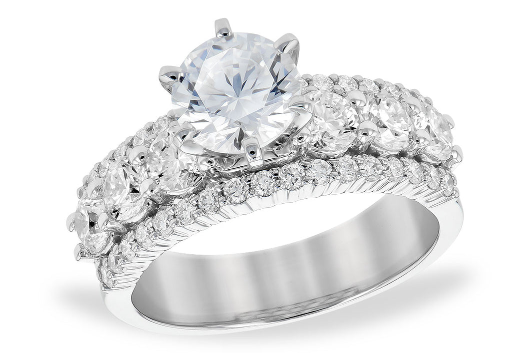 14k 3 Row Diamond Ring