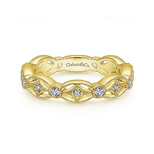 14k Yellow Vintage Band