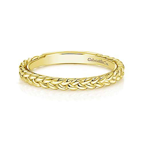 Yellow Gold Braided Band