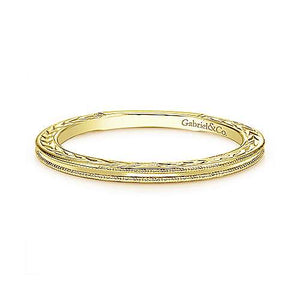 Gold Milgrain Band