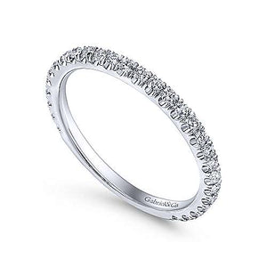 14k Straight Line Diamond Band
