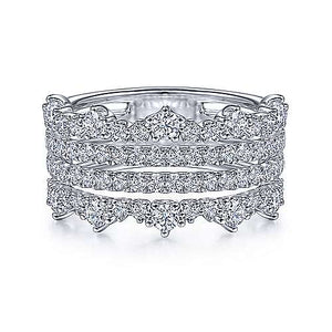 Four Row Diamond Ring