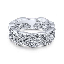 Load image into Gallery viewer, 14k White Gold Diamond Braided Ring