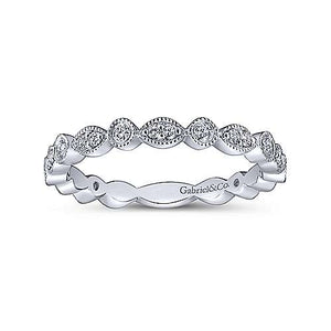 Marquise & Round Station Diamond Band
