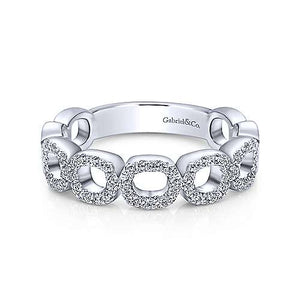 Open Link Diamond Band