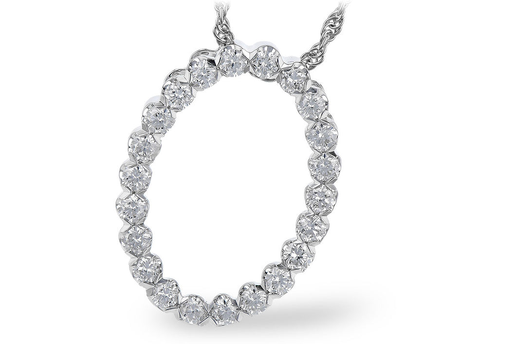Oval Diamond Pendant