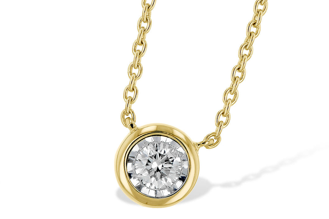 Bezel Set Diamond Necklace - Yellow