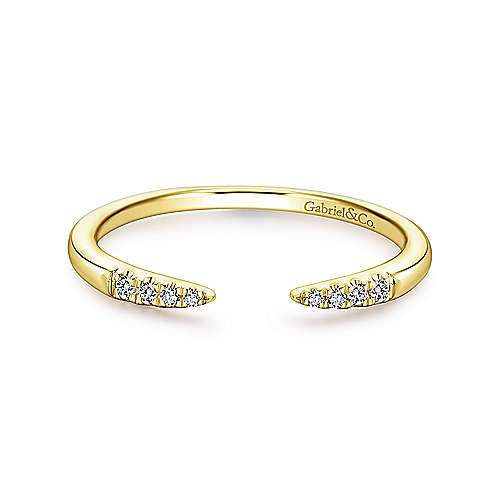 Open Diamond Tipped Band