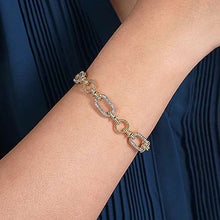 Load image into Gallery viewer, Two Tone Diamond Link Bracelet