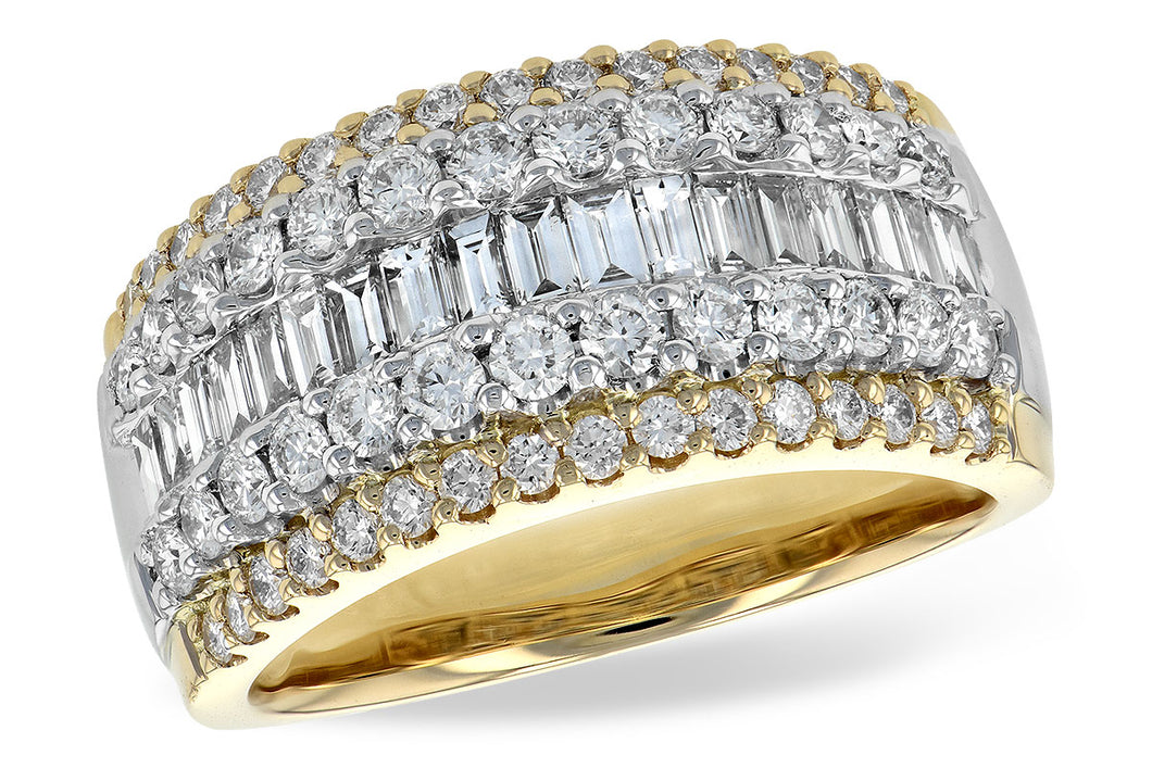 14k Yellow Gold Baguette Diamond Fashion Ring