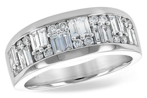 14k White Gold Baguette Fashion Ring